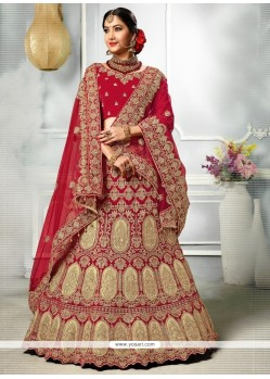 Patch Border Work Velvet Lehenga Choli