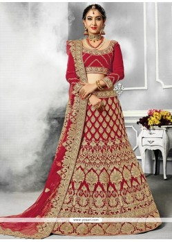 Velvet Patch Border Work Lehenga Choli