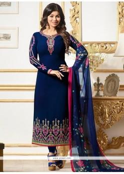 Ayesha Takia Navy Blue Churidar Designer Suit