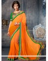 Luxurious Orange Georgette Casual Saree