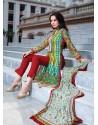 Multicolor Cotton Salwar Kameez