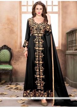 Black Resham Work Designer Suit