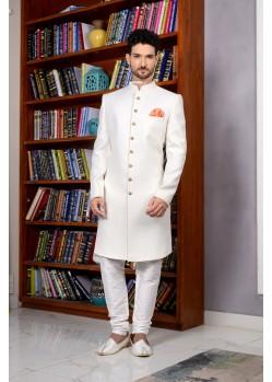 Classic Banarasi Silk Churidar Sherwani