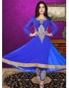 Blue Georgette Anarkali Suit