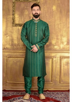 Dashing Green Art Silk Kurta