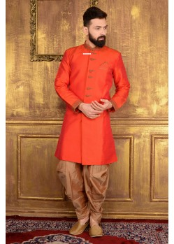 Outstanding Banarasi Silk Embroidered Sherwani
