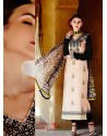 Black Cotton Satin Salwar Kameez