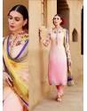 Pink Shade Cotton Satin Salwar Kameez