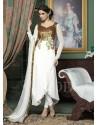 White Georgette Anarkali Suit
