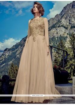 Beige Designer Gown