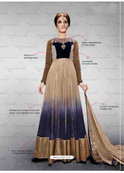 Multicolor Embroidered Work Anarkali Suit