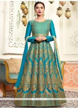 Gauhar Khan Art Silk Floor Length Anarkali Suit
