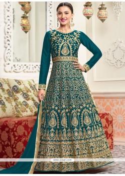 Gauhar Khan Resham Work Floor Length Designer Salwar Suit