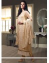 Dazzling Beige Georgette Straight Suit