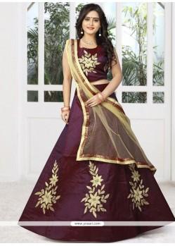 Malbari Silk Purple Designer Lehenga Choli