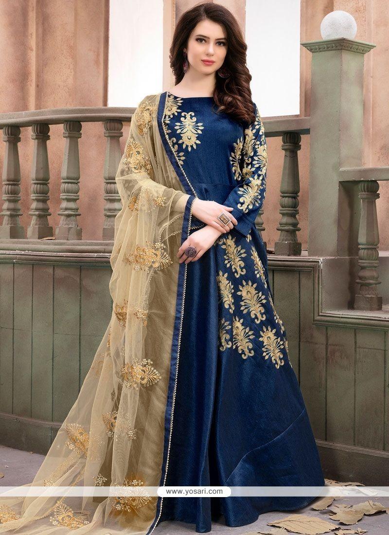 72f1e28f8f Buy Blue Anarkali Salwar Kameez   Anarkali Suits