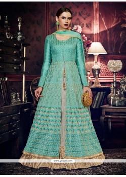 Embroidered Work Floor Length Anarkali Suit
