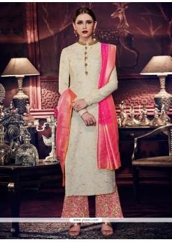 Lace Work Designer Palazzo Suit