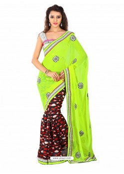 Multicolor Embroidered Work Designer Saree