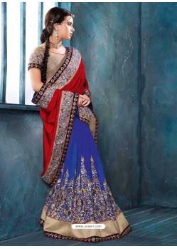 Multicolor Brocade Designer Saree
