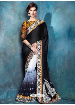 Multicolor Raw Silk Designer Saree