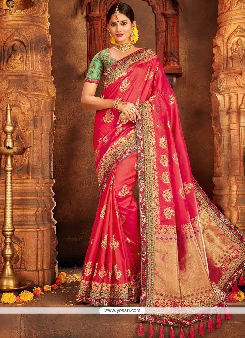 47d4d8dafc Buy Art Silk Hot Pink Traditional Designer Saree | Wedding Sarees