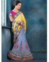 Multicolor Raw Silk Designer Saree
