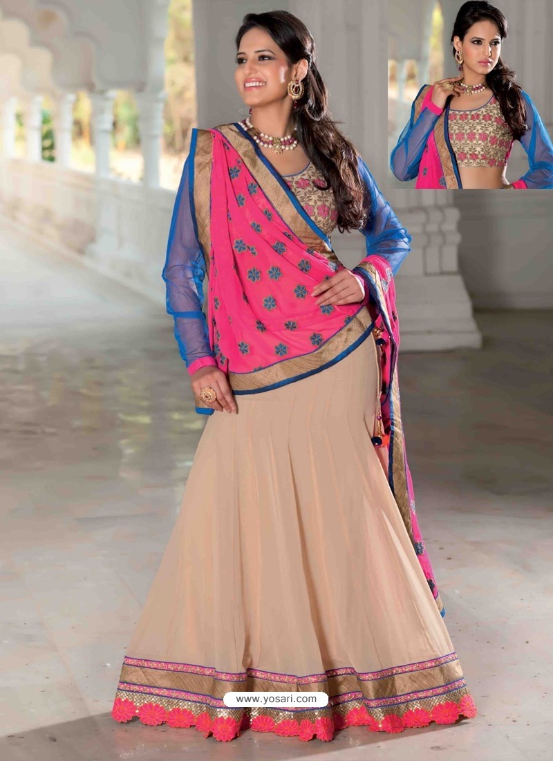 Multicolor Georgette Designer Lehenga Choli