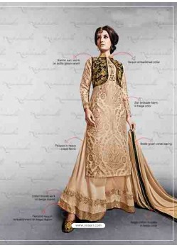 Cream Embroidered Work Lehenga choli
