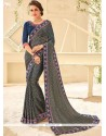 Brasso Patch Border Work Classic Designer Saree