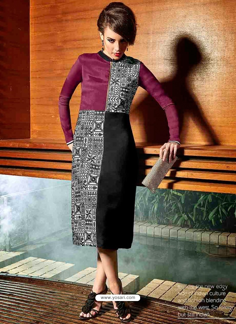 Multicolor Color Georgette Kurti