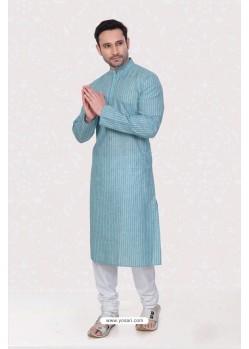 Classy Sky Blue Kurta Pajama