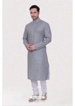 Simple Look Grey Kurta Pajama