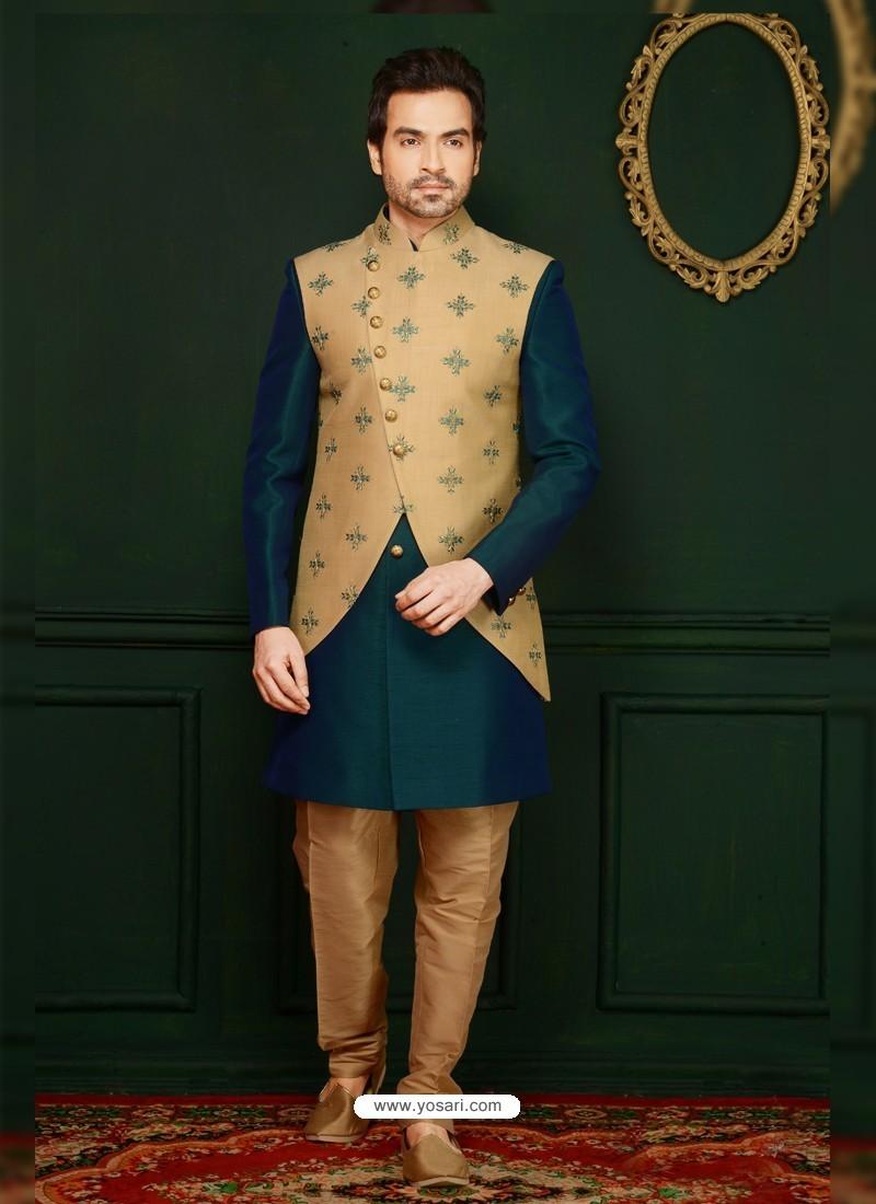 8dfb8ab61c59 Buy Classic Jacquard Designer Kurta Pajama In Green