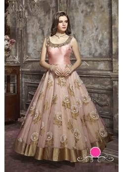 Designer Pink Pure Handwork Anarkali Salwar Suit