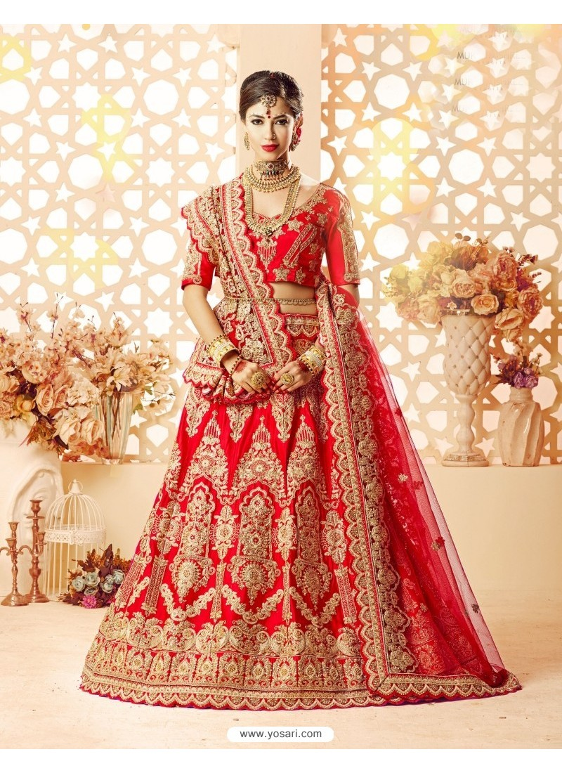 037edbc26545a0 Buy Beautiful Embroidered Red Lehenga Choli Bridal Lehenga Choli
