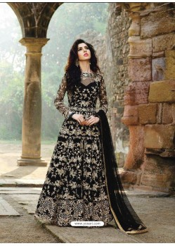 Splendid Black Long Anarkali Salwar Suit