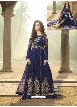 Gorgeous Blue Geogette Anarkali Suit