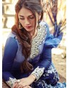 Navy Blue Resham Work Punjabi Patiala Suit