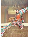 Orange Resham Work Punjabi Patiala Suit