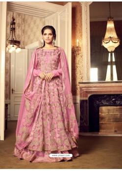 Designer Pink Embroidered Anarkali Salwar Suit