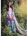 Purple Resham Work Punjabi Patiala Suit