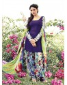 Blue Resham Work Punjabi Patiala Suit