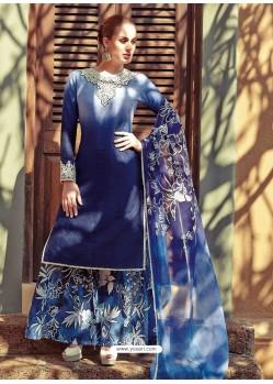 Navy Blue Resham Work Pakistani Suit