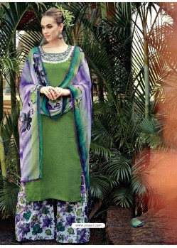 Green Resham Work Pakistani Suit