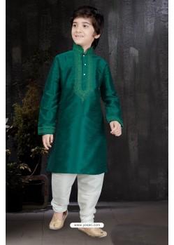 Green Art Dupion Kurta Pajama