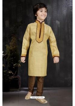 Classy Gold Banarasi Jacquard Kurta Pajama