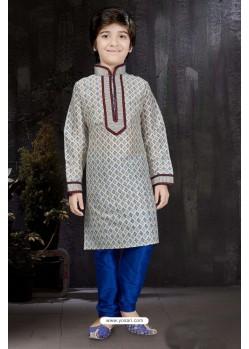 Impressive Off White Printed Kurta Pajama