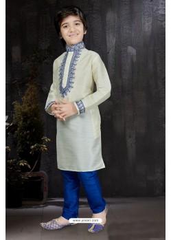 Superb Yellow Banarasi Jacquard Kurta Pajama