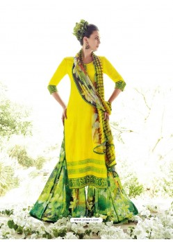Yellow Resham Work Pakistani Suit
